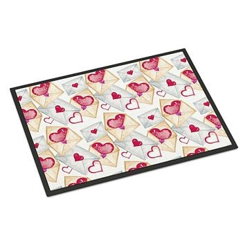 Watercolor Love Letters Indoor or Outdoor Mat 18x27 BB7569MAT