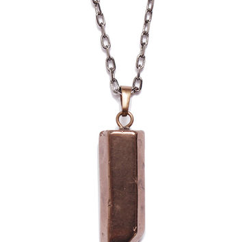 Crystal Quartz Point Necklace for Men