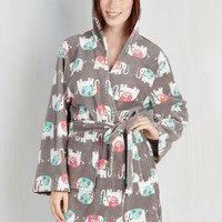 Critters Long Sleeve Fauna Friend Robe in Elephant