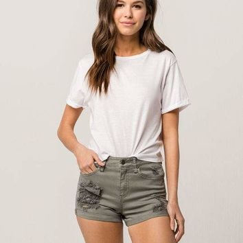 RSQ Sunset High Rise Womens Denim Shorts