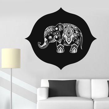 Vinyl Wall Decal Indian Baby Elephant Nursery Kids Room Stickers Unique Gift (724ig)