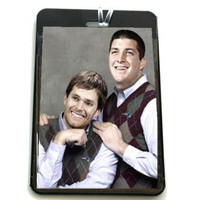 funny gag Tim Tebow Tom Brady New England Patriots Luggage or Book Bag Tag