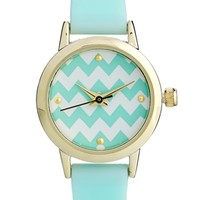 ASOS Mini Zig Zag Watch - Green