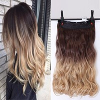 24 Inch 5 Clips Wavy Hair Extensions