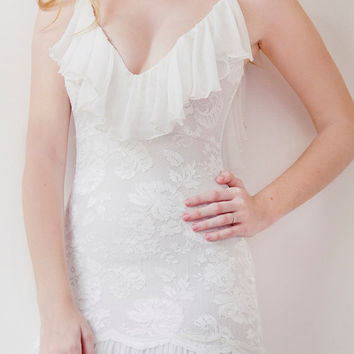 Stunning low back French lace wedding dress with by GraceLovesLace
