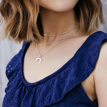 Linsley Silver Layered Necklace