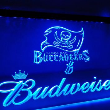 LD288- Tampa Bay Buccaneers Budweiser LED Neon Light Sign