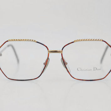 Vintage Christian Dior eyeglasses / Womens Glasses / German Spectacle Frames / Made in Germany - 80s