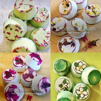 Shower Steamers- Aromatheraphy, Sinus Relief, Congestion Relief, Stess Relief, Relax, Spa Product, Menthol Steamer, HandPainted
