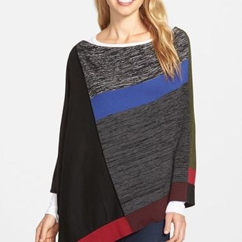 Women's Curio Colorblock Poncho Sweater,