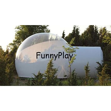 Stargazing Inflatable Bubble Partially Transparent Dome Igloo Tent