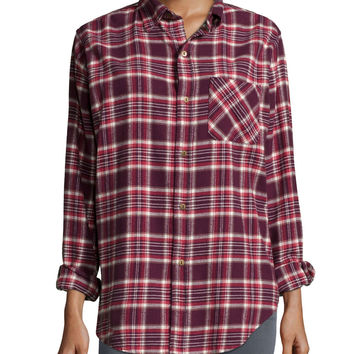 The Prep School Shirt, Cranberry Plaid, Size: