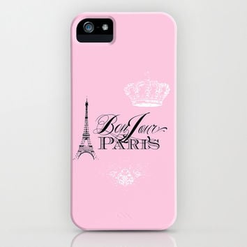 Bonjour Paris Pink iPhone & iPod Case by Color and Form | Society6