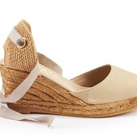 Sagaro Canvas Wedges - Beige