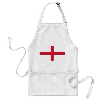 Apron with Flag of England