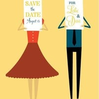 Save the Date Couple by ellothere on Etsy