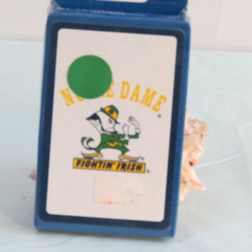 Notre Dame Playing Cards with Photo Illustration, Complete Deck factory sealed fighting Irish