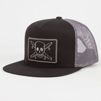Fourstar Pirate Patch Mens Trucker Hat Black One Size For Men 27022910001