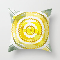 Digital and sunny Throw Pillow by LoRo  Art & Pictures