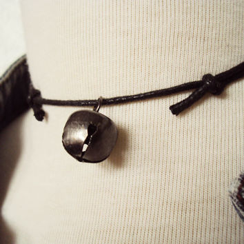 Black Bell Choker ~ Cat Bell Necklace ~ Cat Bell Choker ~ Goth Necklace ~ Punk Choker ~ Gothic Choker