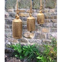 Melodious 3 piece Metal Rope Animal Harmony Bell, Gold