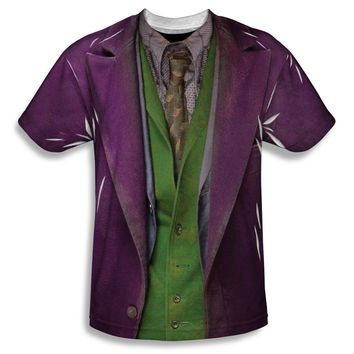 Batman Dark Knight Joker Costume Sublimation Mens T-Shirt
