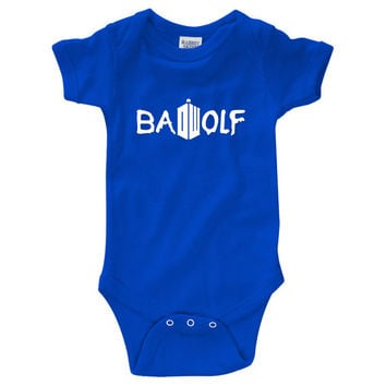 "Dr. Who ""Bad Wolf"" Onesuit Creeper (New Born - 24 Months)"