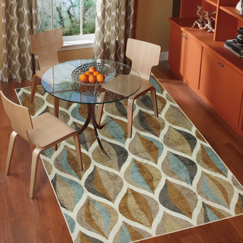 mohawk home new wave taupe ornamental ogee area rug - Mohawk Area Rugs