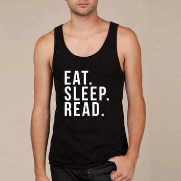 Eat sleep read Tank Top
