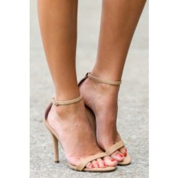 At My Best Nude Ankle Strap Heels