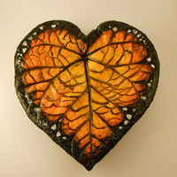 Monarch Wings Heart Dish/Candle Holder/Keys