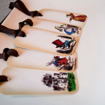 Gift Tags Alice in Wonderland by TheRedStarDesigns on Etsy