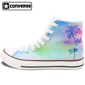 CREYON palm trees painted converse