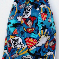 Child's Drawstring Backpack Superman, Fully Lined Drawstring Backpack, Superhero, Super Man, Man of Steel