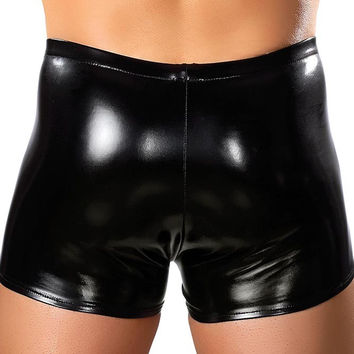 Liquid Onyx Rubber Pouch Short in M