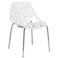 Birds Nest Dining Side Chair in White (Set of 2)