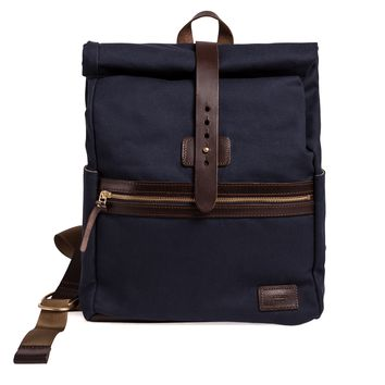 Midnight Navy Rolltop Backpack