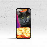 Galaxy Cat Pizza Pie Obsession Case Cover for Apple iPhone 4 4s 5 5s 5c 6 6s Plus & iPod Touch