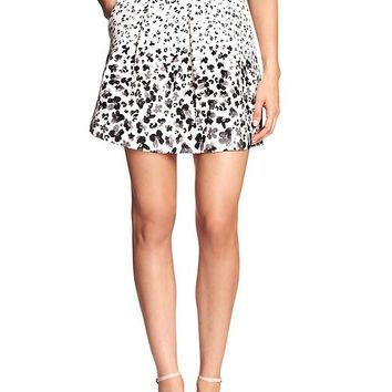 Banana Republic Womens Factory Pleated Print Mini Skirt