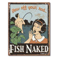 Tin Sign : Schonberg - Fish Naked