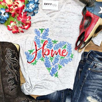 Texas Bluebonnets Home Graphic Tee