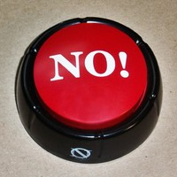 The No Button the No Button Is a Handy Button That Says 'No' in 10 Different Variations