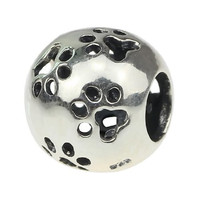 Dog Solid Silver European Bead Charm Fits Pandora Biagi Troll Chamilia Cable Bracelets