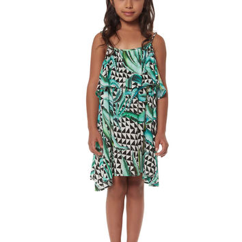 Mara Hoffman Kids Aloe Black Ruffle Dress