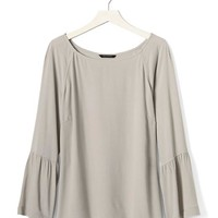 Bell Sleeve Crepe Blouse | Banana Republic