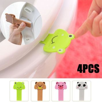 2017 Cute 2pcs Cartoon Toilet Lid Lifting Device Seat Cover Handle House Bathroom Product