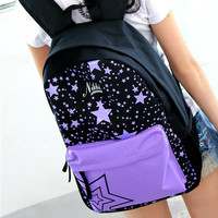 Stars canvas backpacks