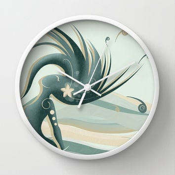 Melissa, wife of the ocean Wall Clock by LouJah