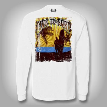 Live to Surf - Performance Shirts - Fishing Shirt - Surfing Shirt