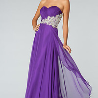 JVN by Jovani Strapless Evening Gown